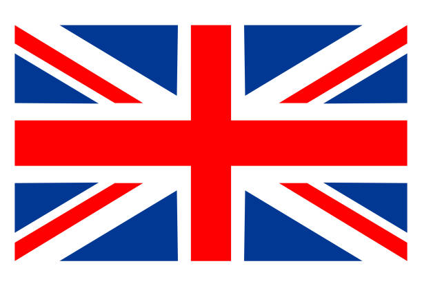 great britain flag - union jack flag stock illustrations, clip art, cartoons, & icons