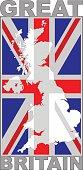 Great Britain flag vector