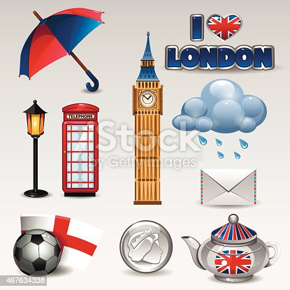 great britain icons stock vector art more images of 2015 467634338