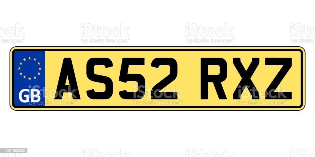 great britain united kingdom car plate vehicle registration number