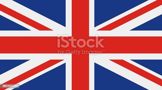 Great Britain flag, United Kingdom flag vector icon