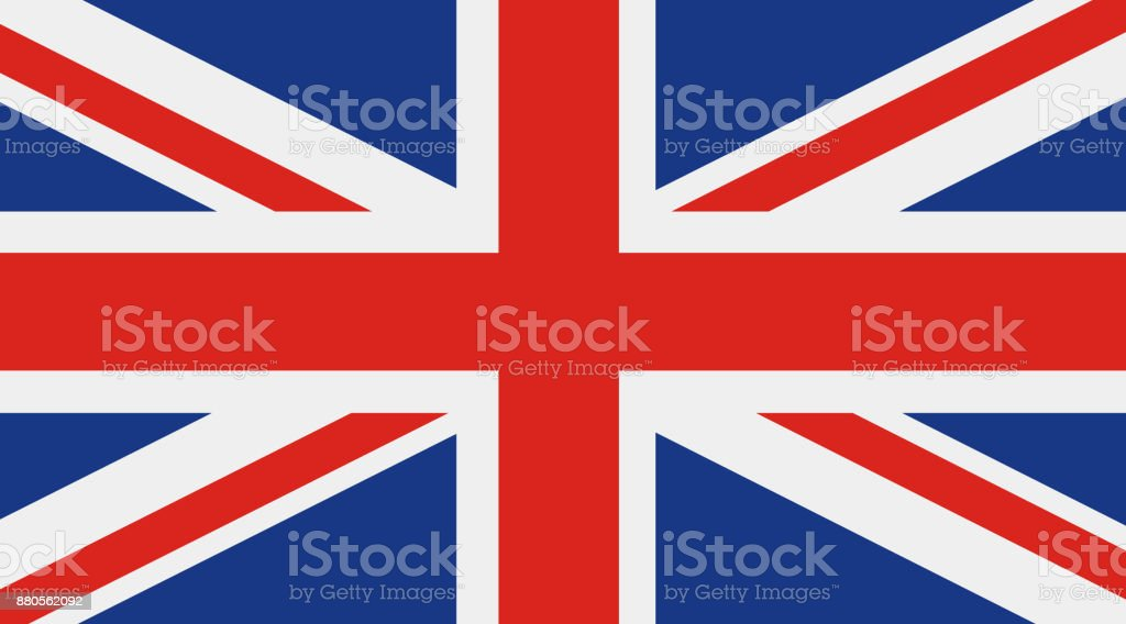 Great Britain, United Kingdom flag vector art illustration