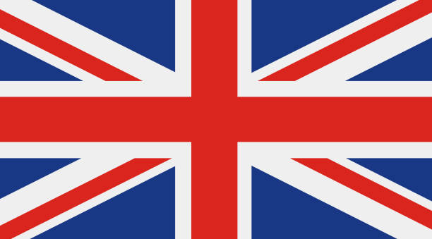 great britain, united kingdom flag - union jack flag stock illustrations, clip art, cartoons, & icons