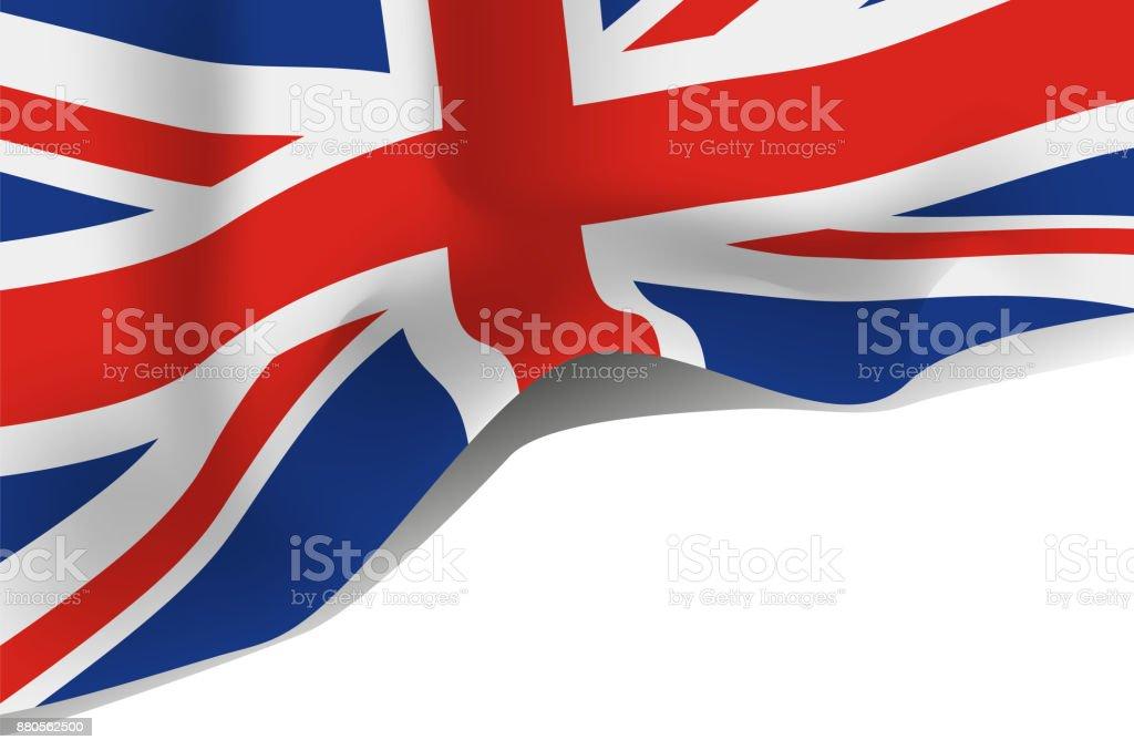 Great Britain, United Kingdom flag vector art illustration