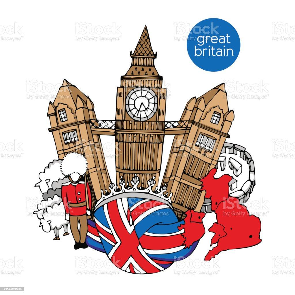 Great Britain vector illustration vector art illustration