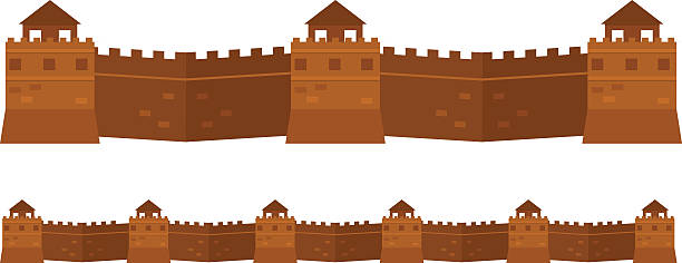 Great Wall Of China Illustrations, Royalty-Free Vector