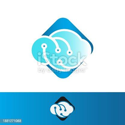istock Great Digital Tech Cloud Logo design sign Vector Illustrations 1331271053