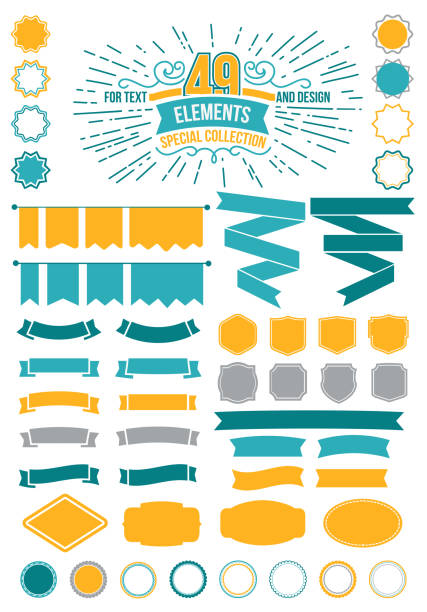 Great for retro Premium design elements. Frames and ribbons Designers Collection Great for retro Premium design elements. Frames and ribbons Designers Collection Vector illustration you re awesome stock illustrations