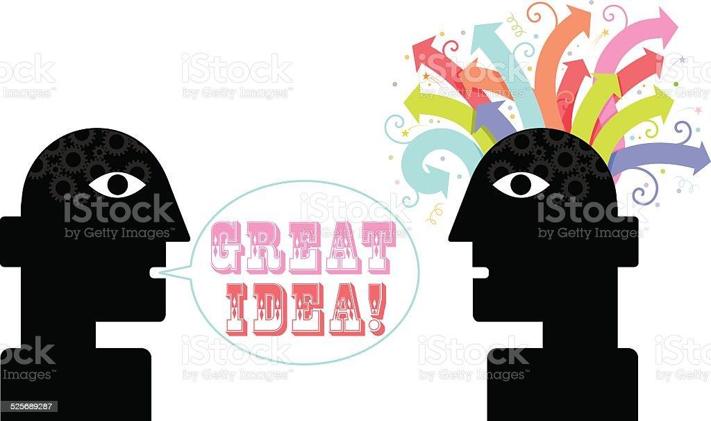 Great idea illustration vector art illustration