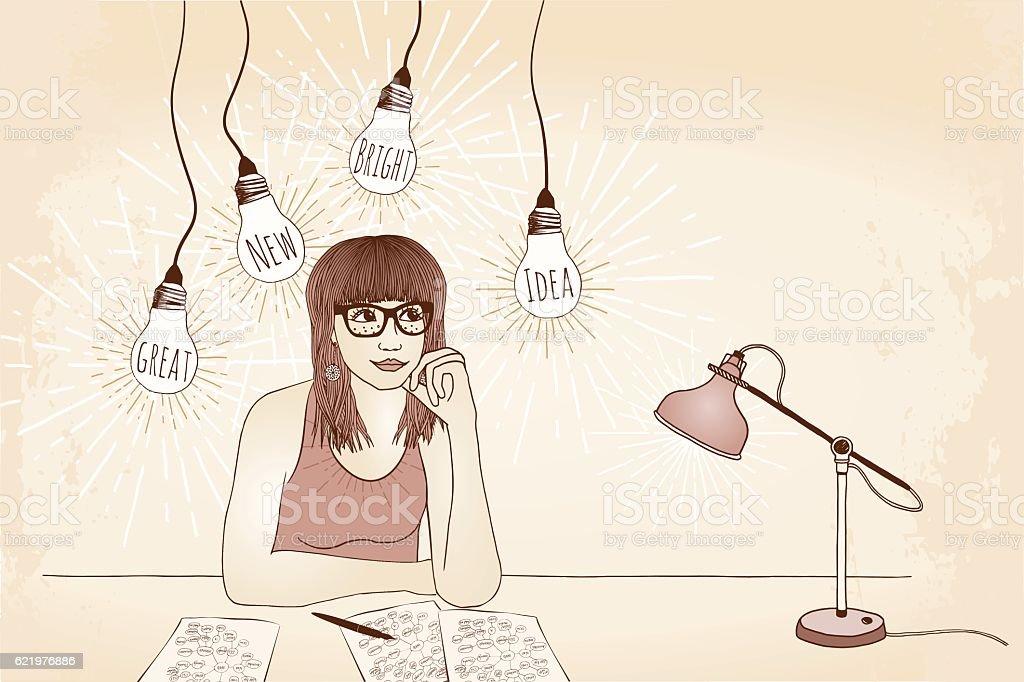 Great new bright idea! vector art illustration