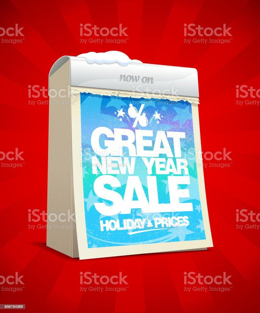 Tolles Neues Jahr Verkauf Plakatgestaltung Weihnachtstag Verkauf ...