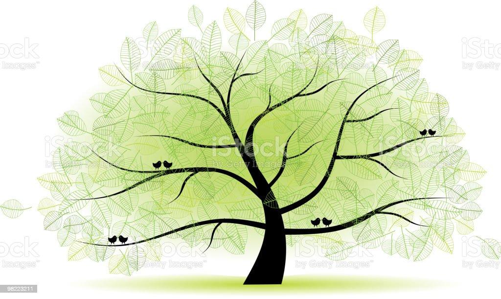 Grande vecchio albero per il design grande vecchio albero per il design - immagini vettoriali stock e altre immagini di albero royalty-free