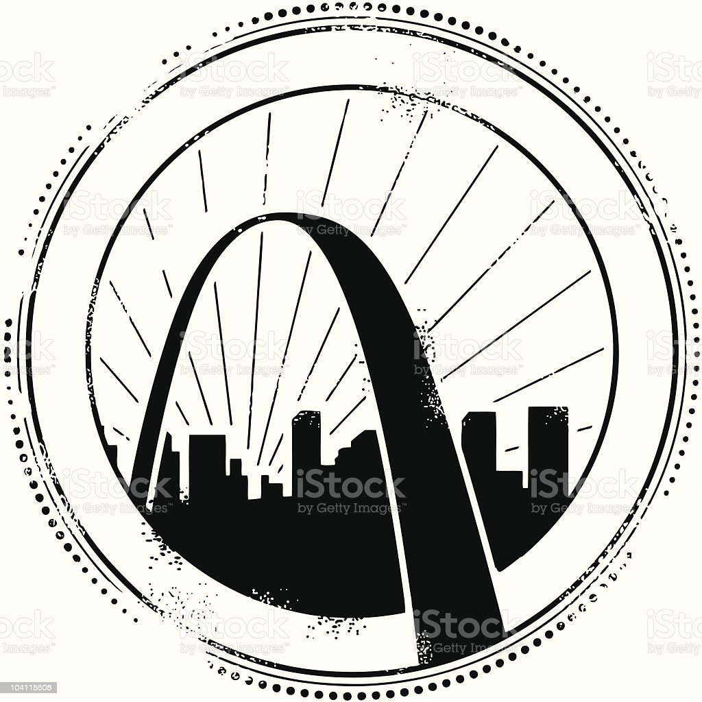 Great stamps of St. Louis vector art illustration
