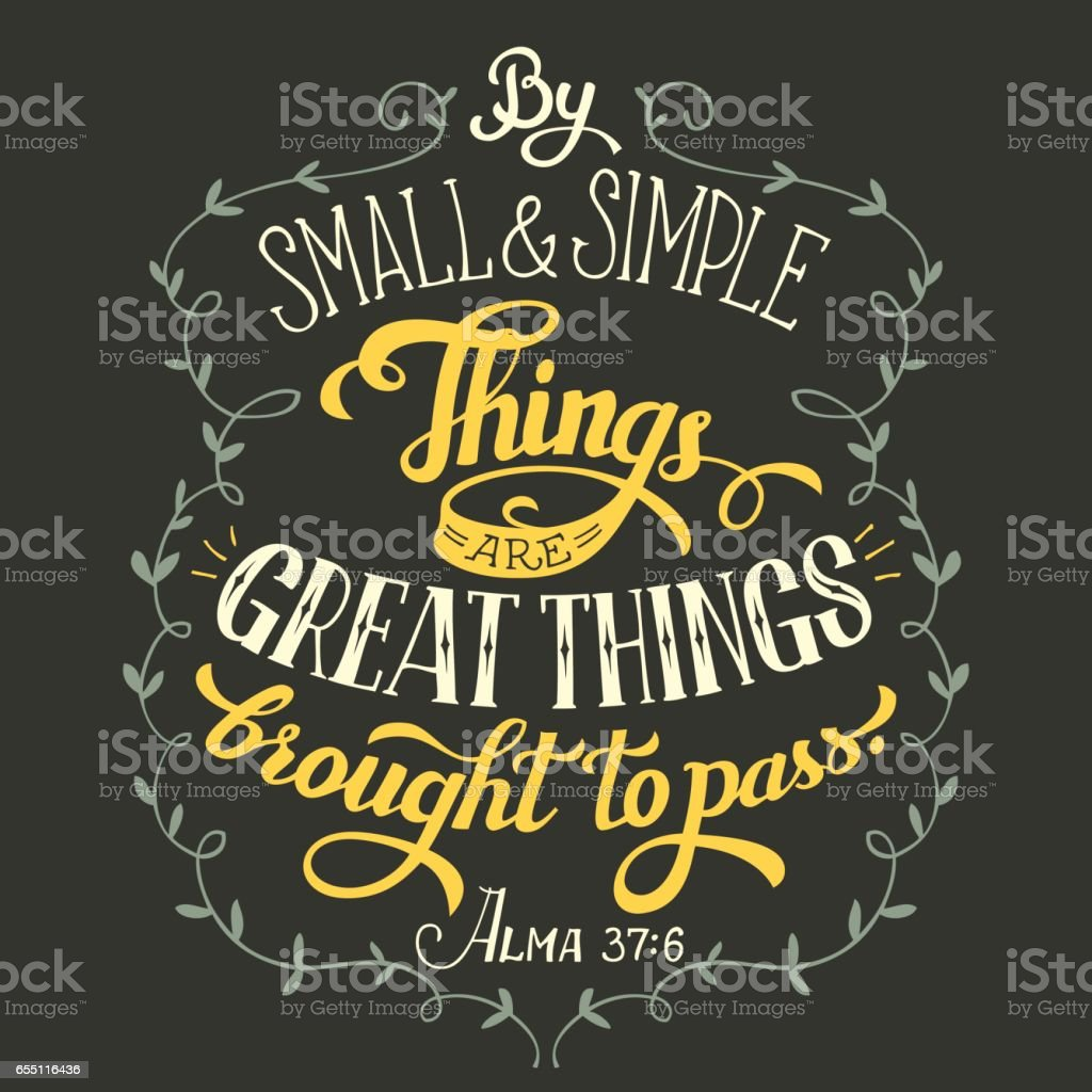 Great things brought to pass bible quote vector art illustration