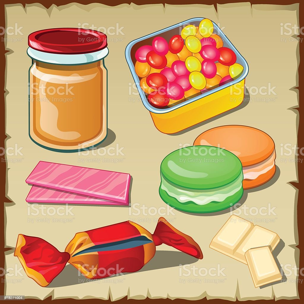 Great vector set of sweets for any occasion vector art illustration