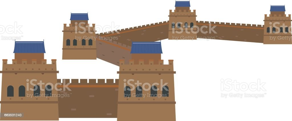 Great Wall China. Isolated on white background vector illustration. vector art illustration  sc 1 st  iStock & Royalty Free Great Wall Of China Clip Art Vector Images ...