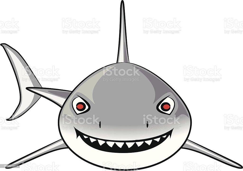 Grand requin blanc dessin anim vecteurs libres de droits et plus d 39 images vectorielles de au - Modele dessin requin ...