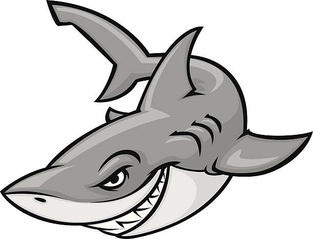 great white cartoon great white shark great white shark stock illustrations