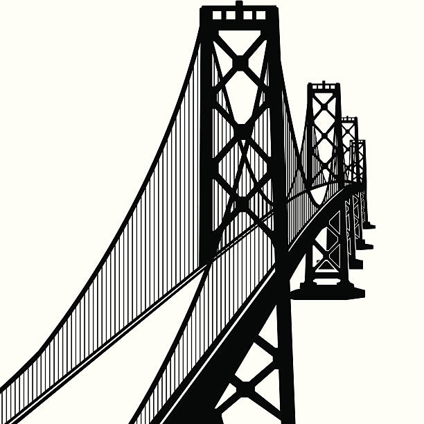Greater Bay Bridge  oakland stock illustrations