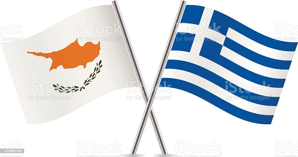 greece and cyprus flags vector stock vector art more images of