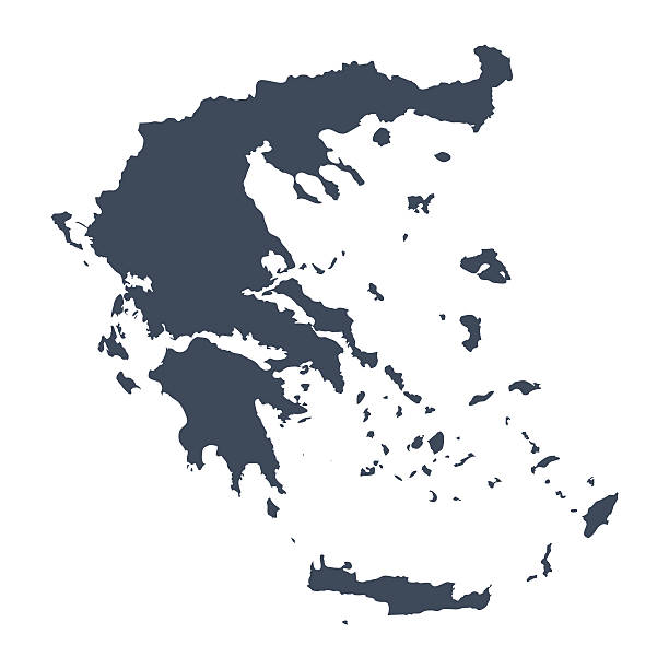 Greece country map vector art illustration