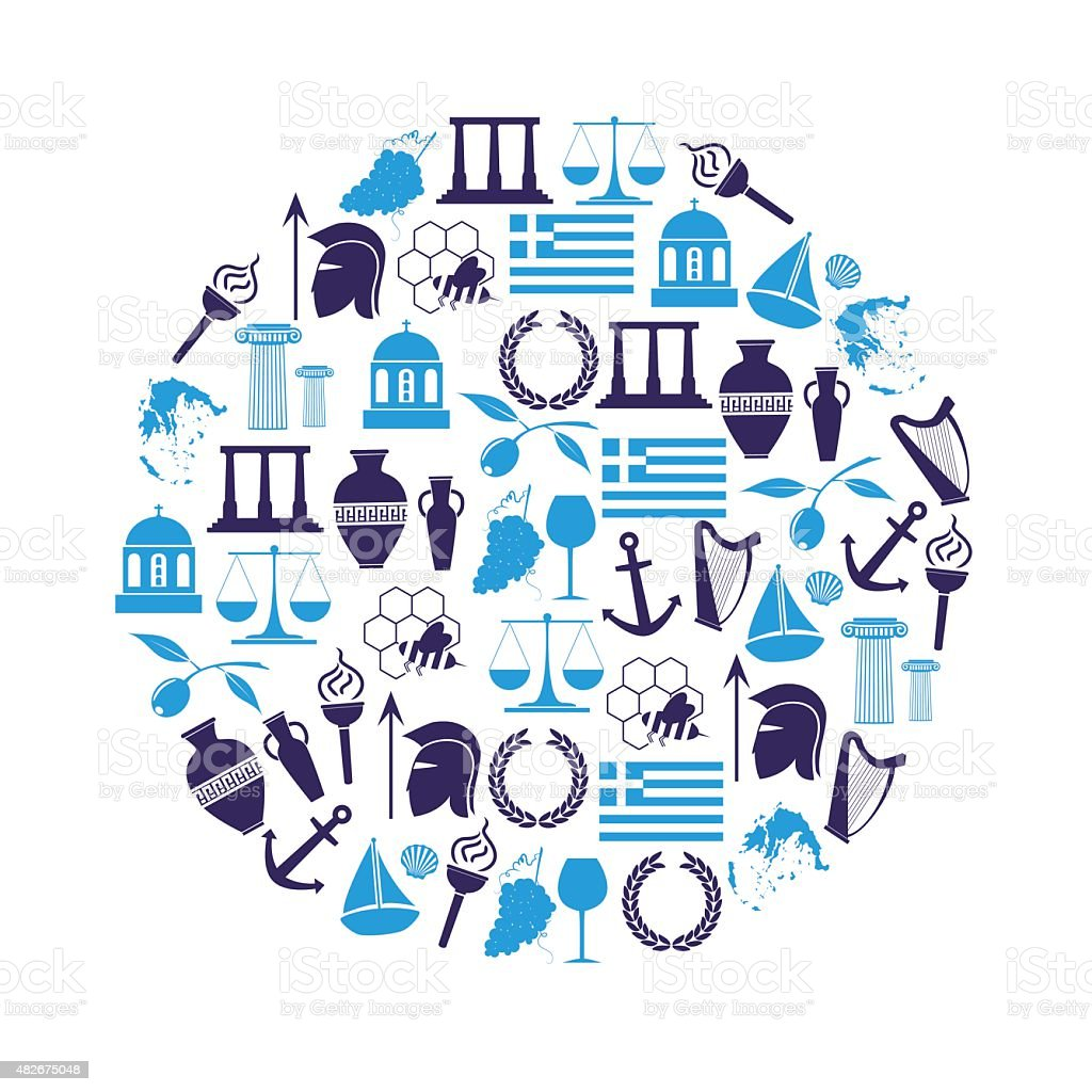 Greece country theme symbols and icons in circle eps10 stock greece country theme symbols and icons in circle eps10 royalty free greece country theme symbols biocorpaavc Image collections