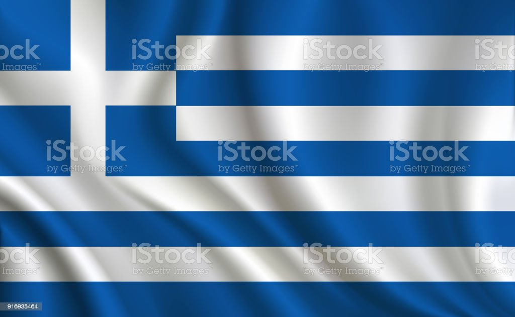 Greece flag background vector art illustration