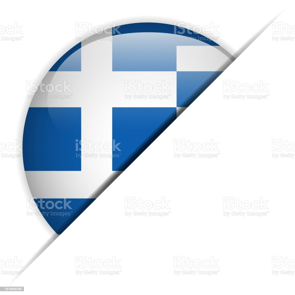 Greece Flag Glossy Button Hidden royalty-free greece flag glossy button hidden stock vector art & more images of badge