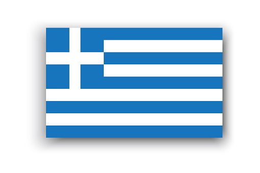 Greece flag, great design for any purposes. Holiday concept. Travel concept. Vector illustration. Stock image. EPS 10.
