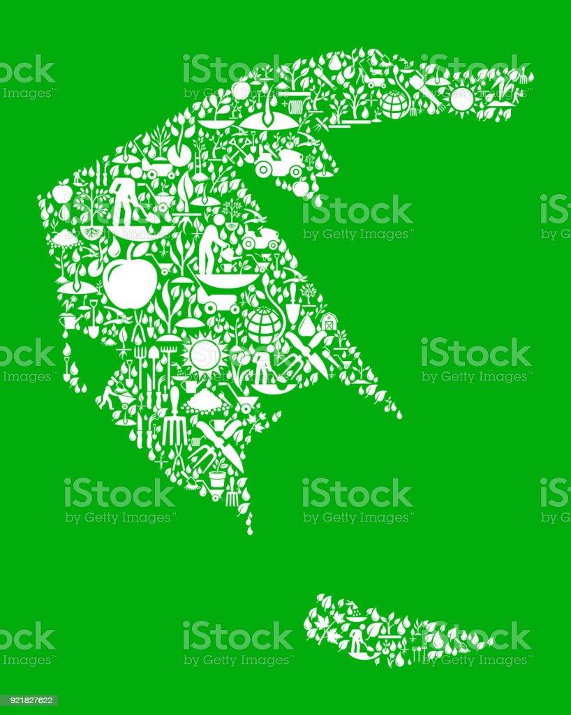 Greece Garden and Gardening Vector Icon Pattern vector art illustration