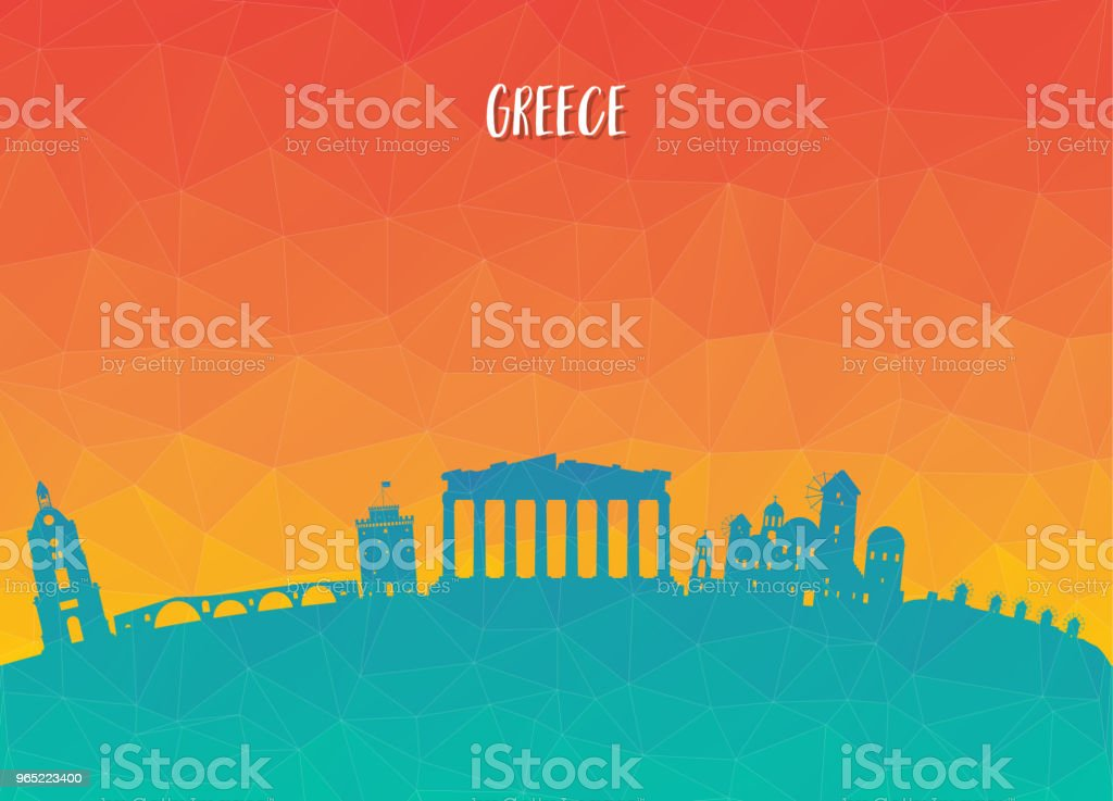 Greece Landmark Global Travel And Journey paper background. Vector Design Template.used for your advertisement, book, banner, template, travel business or presentation. royalty-free greece landmark global travel and journey paper background vector design templateused for your advertisement book banner template travel business or presentation stock vector art & more images of ancient