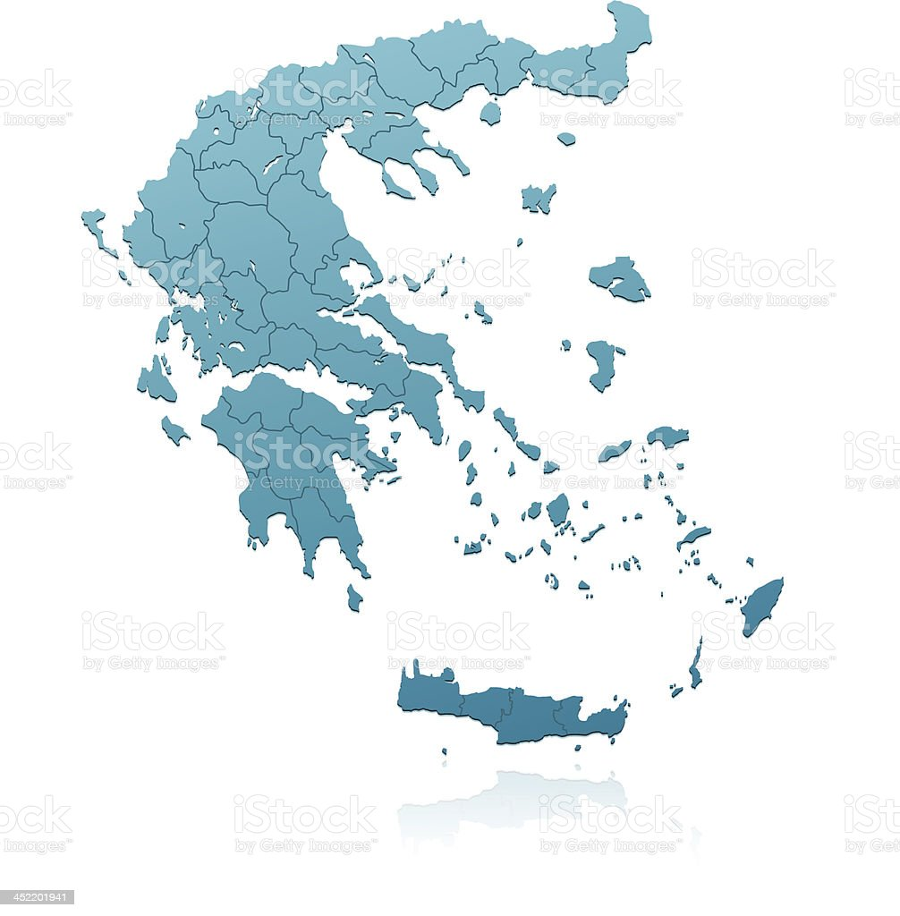 Greece Map Green Stock Vector Art More Images Of Blank 452201941