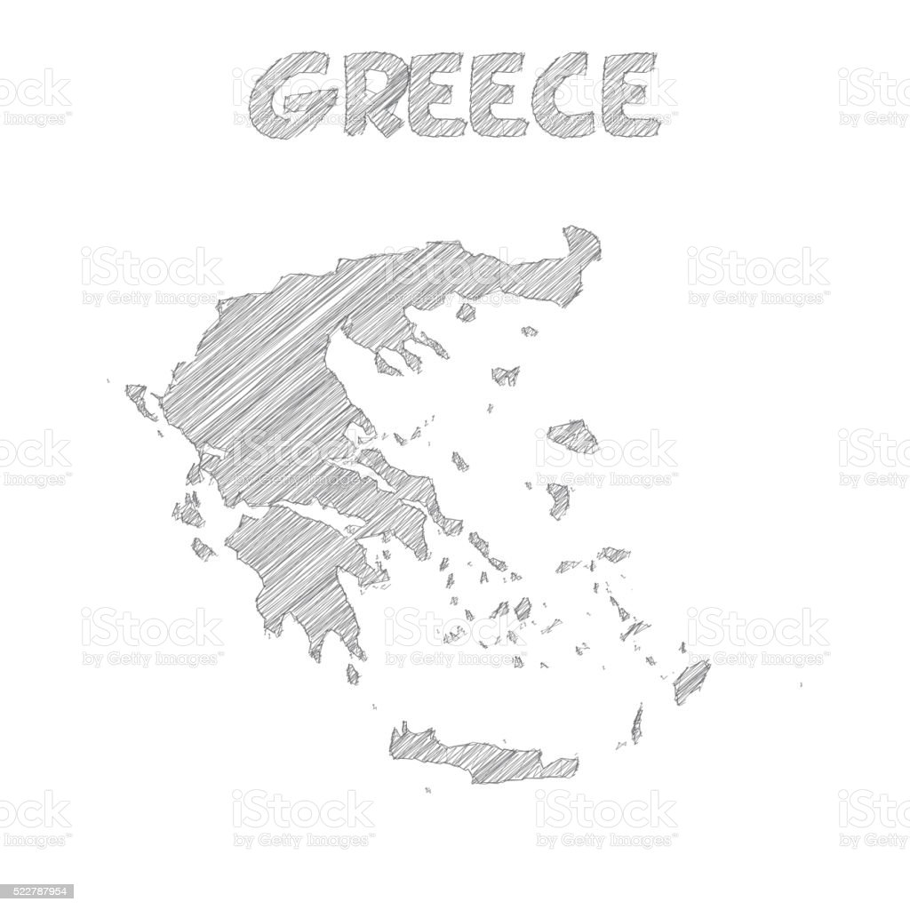 Picture of: Greece Map Hand Drawn On White Background Stock Illustration Download Image Now Istock