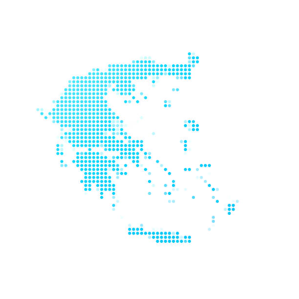 Royalty Free Blank Greece Map Clip Art Vector Images
