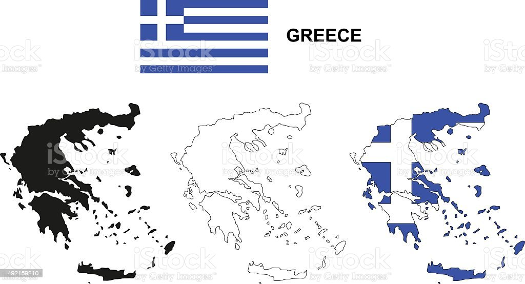 Greece Map Vector Greece Flag Vector Isolated Greece Stock ...