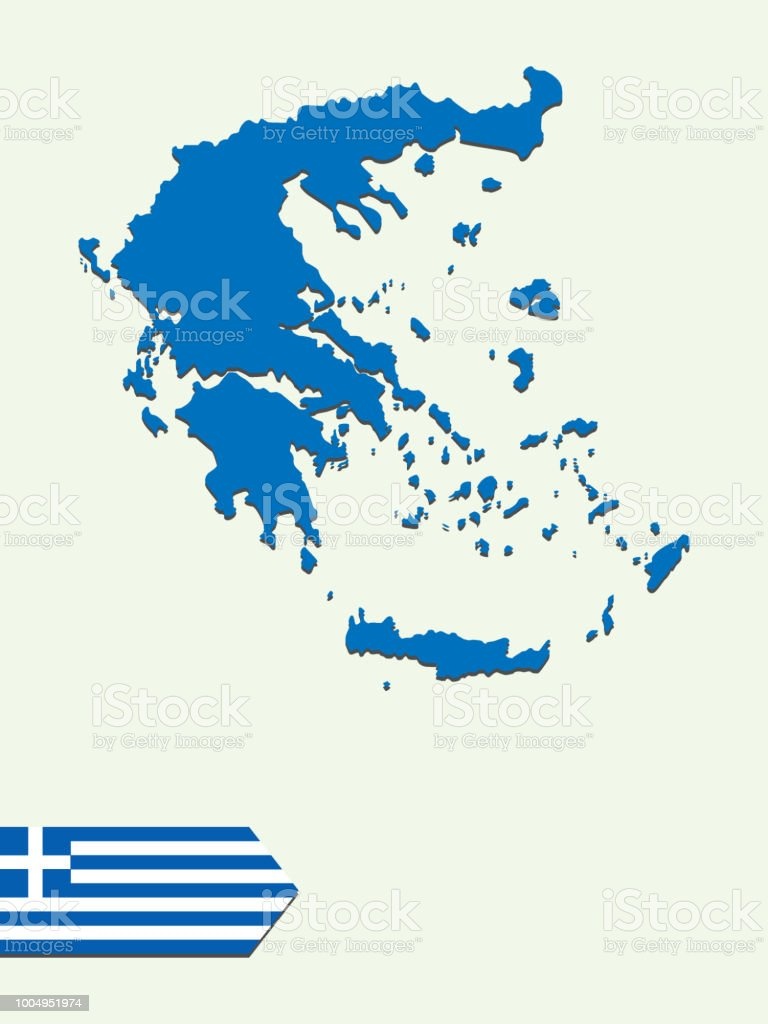 Greece Map Stock Vector Art & More Images of Abstract 1004951974 ...