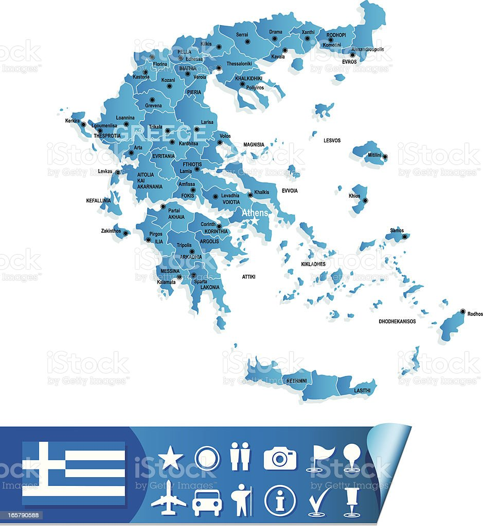 Greece map royalty-free greece map stock vector art & more images of accuracy