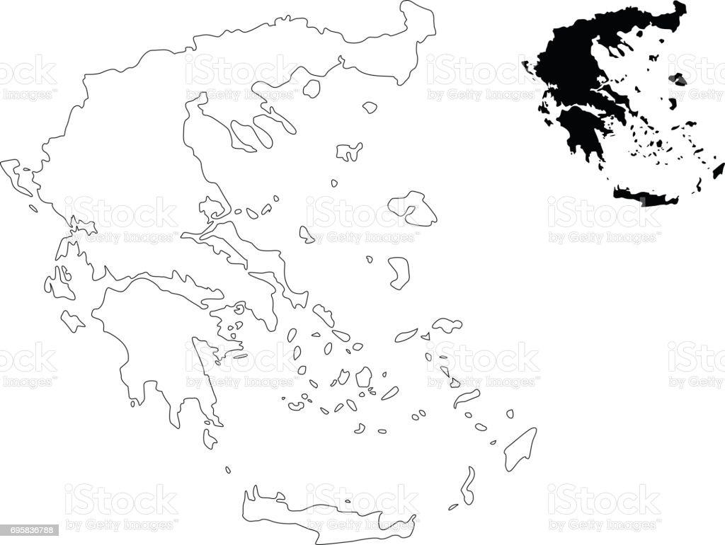 Karta Aten Grekland.Grekland Karta Vektorgrafik Och Fler Bilder Pa Aten Grekland Istock