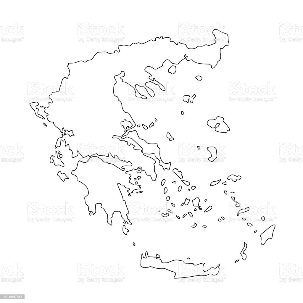 Greece Map Stock Vector Art & More Images of Athens - Greece ...