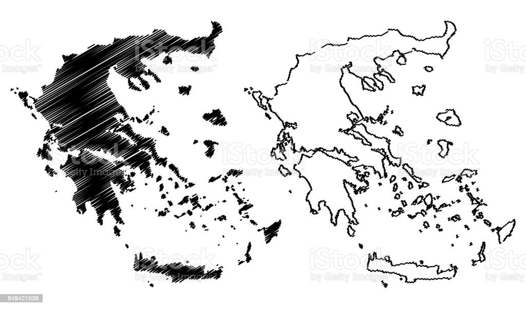 Greece Map Vector Stock Illustration - Download Image Now ...