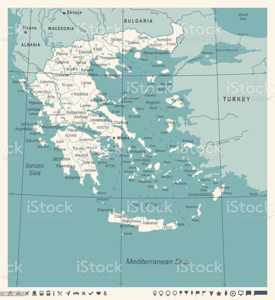 Greece map vintage vector illustration stock vector art more greece map vintage vector illustration royalty free greece map vintage vector illustration stock vector gumiabroncs Gallery