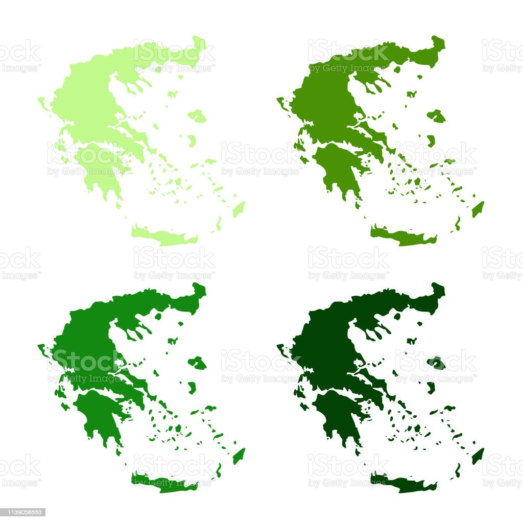 Greece Maps Stock Illustration - Download Image Now - iStock