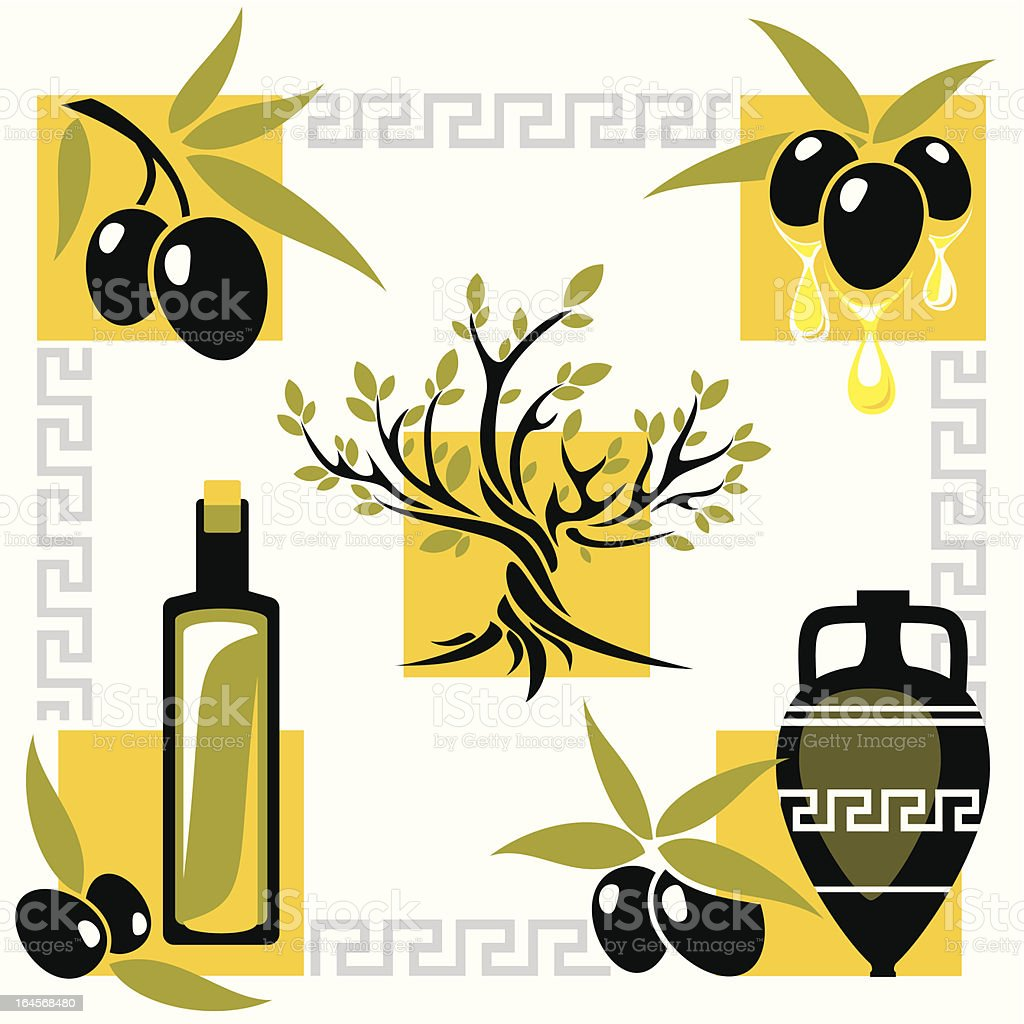 greece olive royalty-free stock vector art