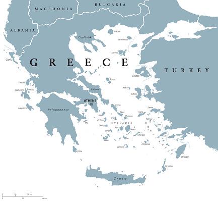 Greece political map