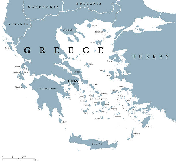 Greece political map – Vektorgrafik