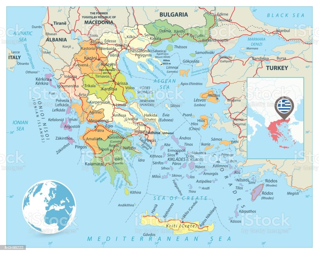 It is a photo of Terrible Ancient Greece Map Labeled