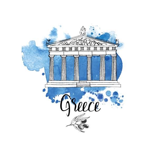 stockillustraties, clipart, cartoons en iconen met griekenland - athens