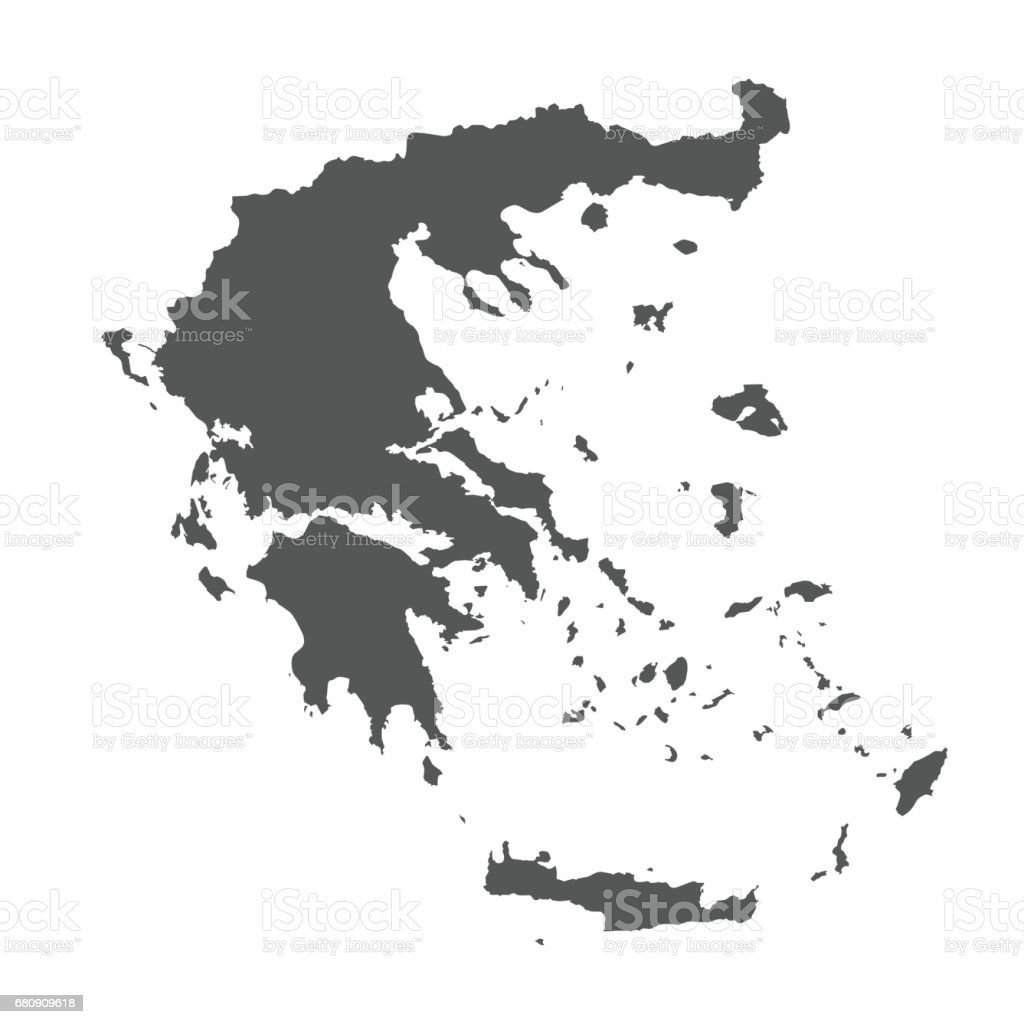 Greece vector map. royalty-free greece vector map stock vector art & more images of black color
