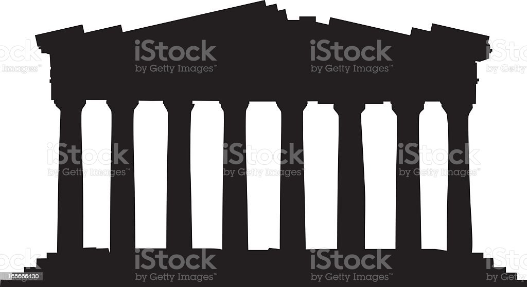 Greece's Parthenon royalty-free stock vector art
