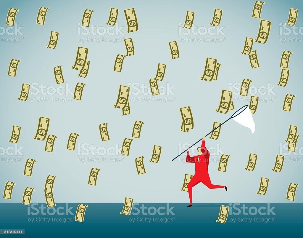 Greed vector art illustration